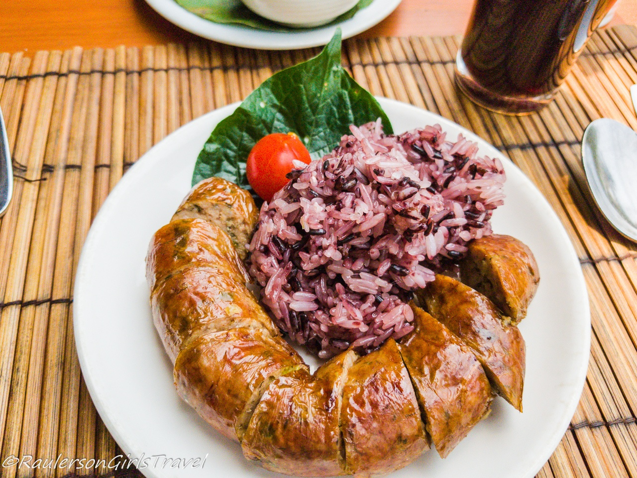 Pork Sausage and Steamed Sticky Rice in Laos
