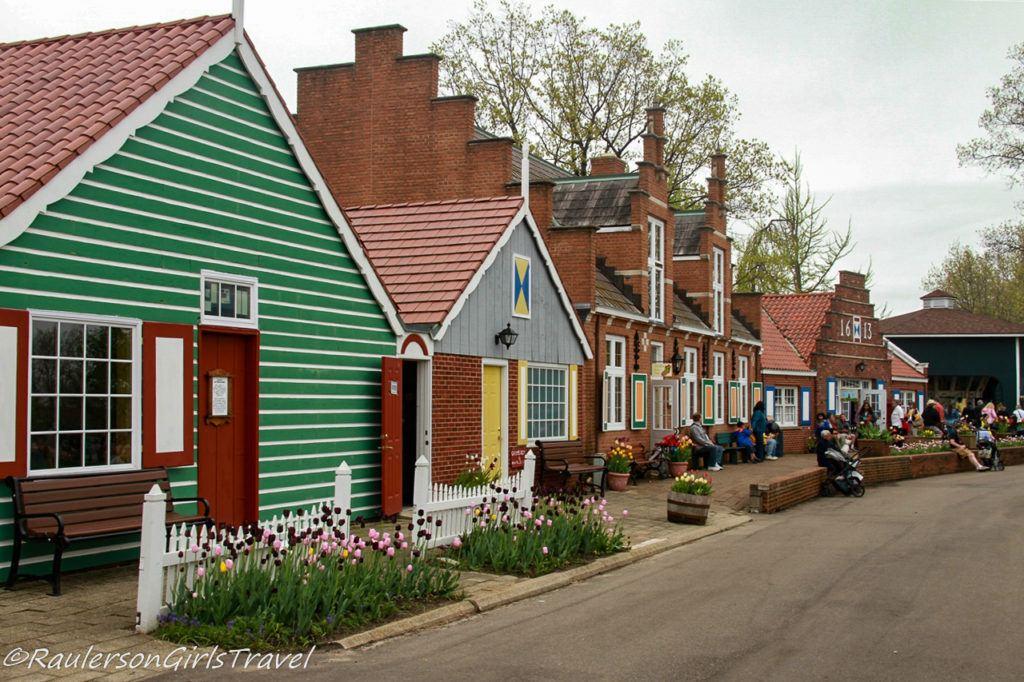Dutch houses in Windmill Island Gardens