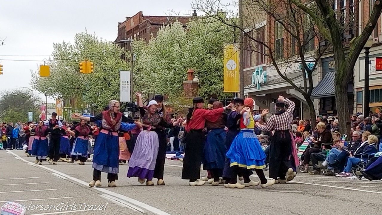 Dutch dancing at the Holland Tulip Festival Parade