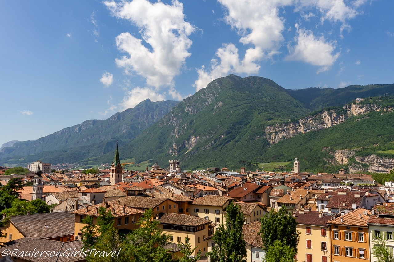 The Dolomite Mountains in Trento, Italy