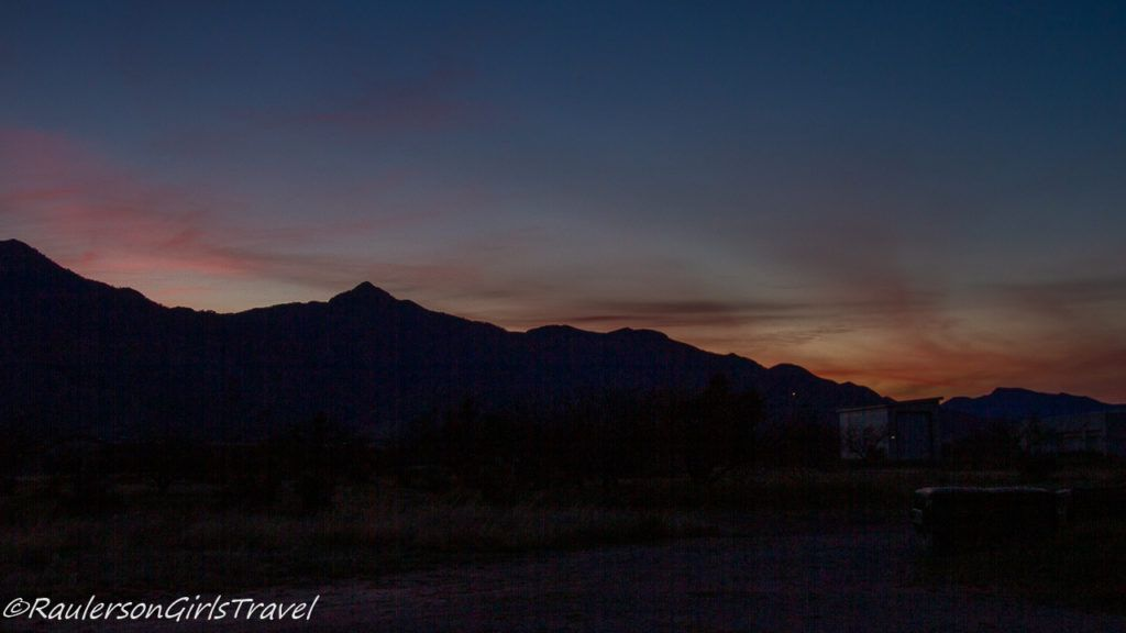 Sunset over the Huachuca Mountains