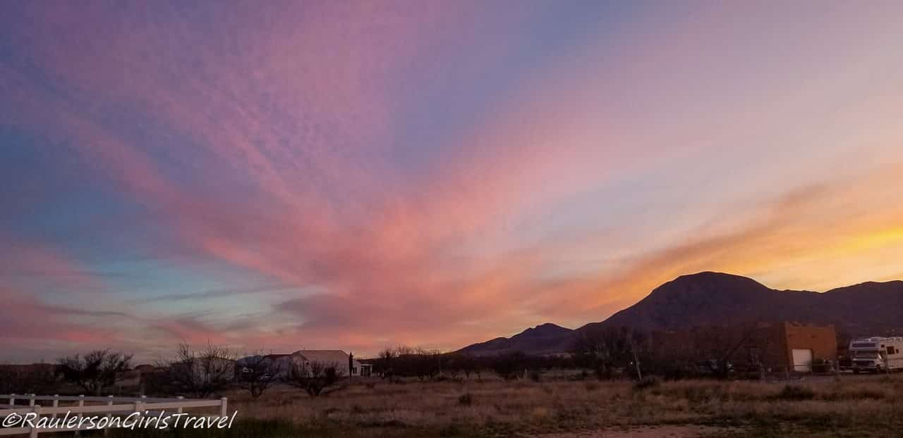 Pink Cotton Candy Clouds in the Arizona Sunset