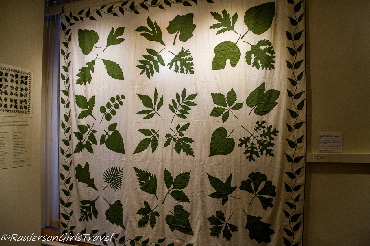 New England Native Leaves Quilt