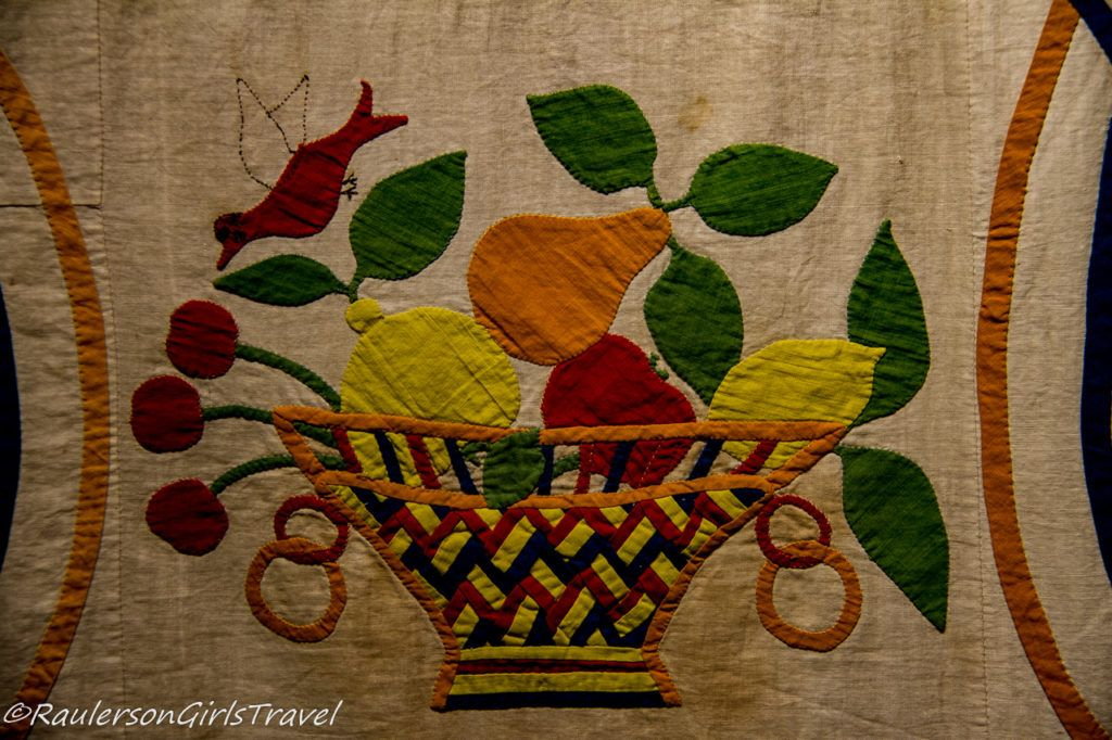 Hand quilted basket of fruit