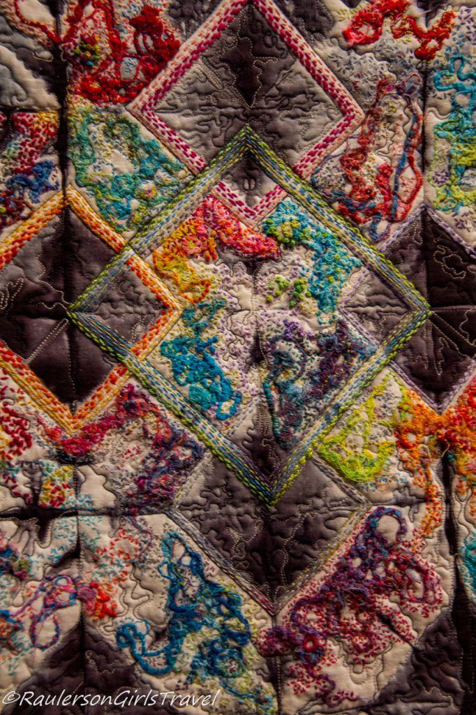 Bright colored- crazy quilt