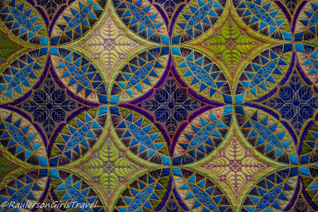 Green and Blue Pickle Dish patterned Quilt