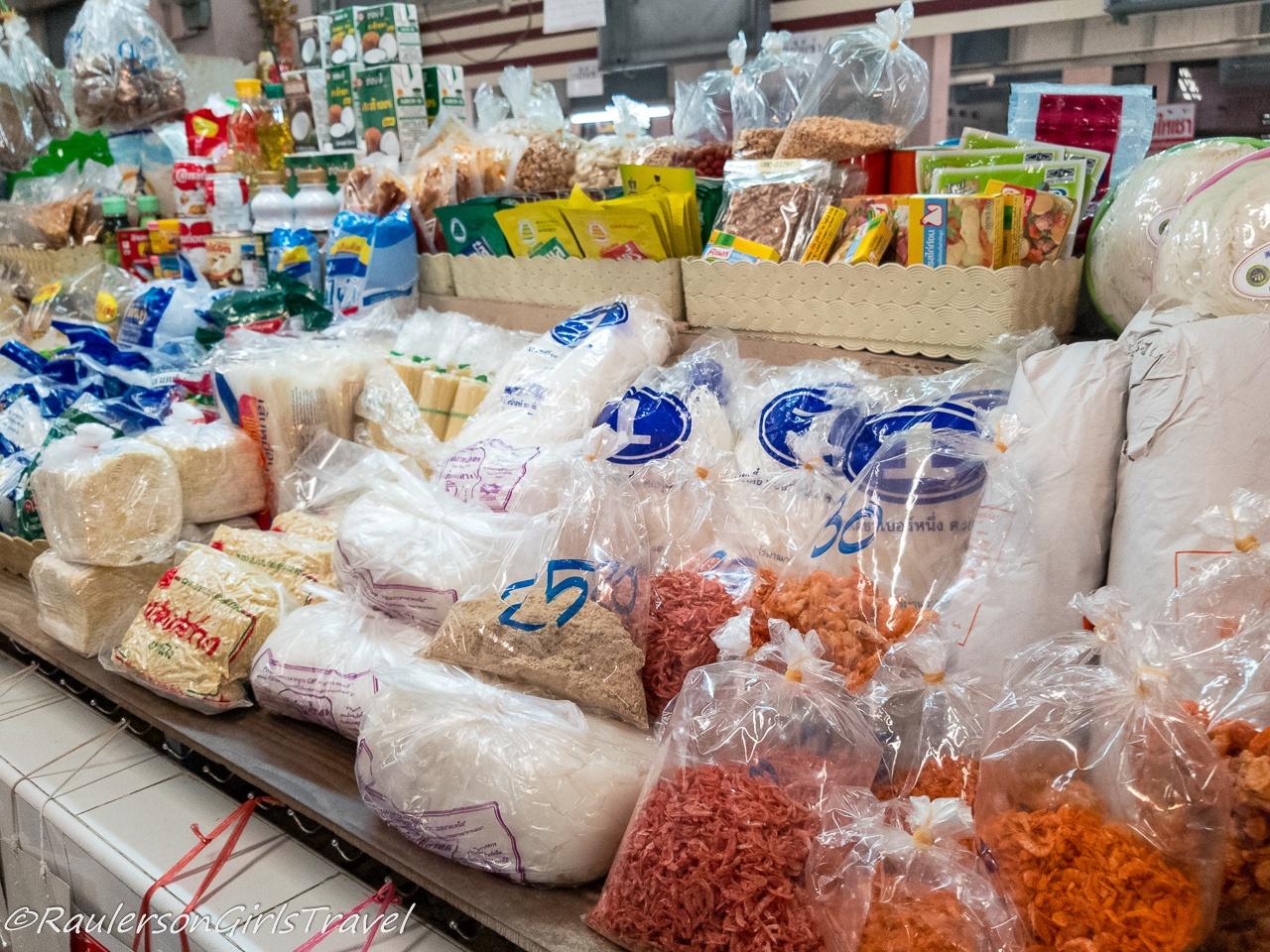 Bagged food in Thai market