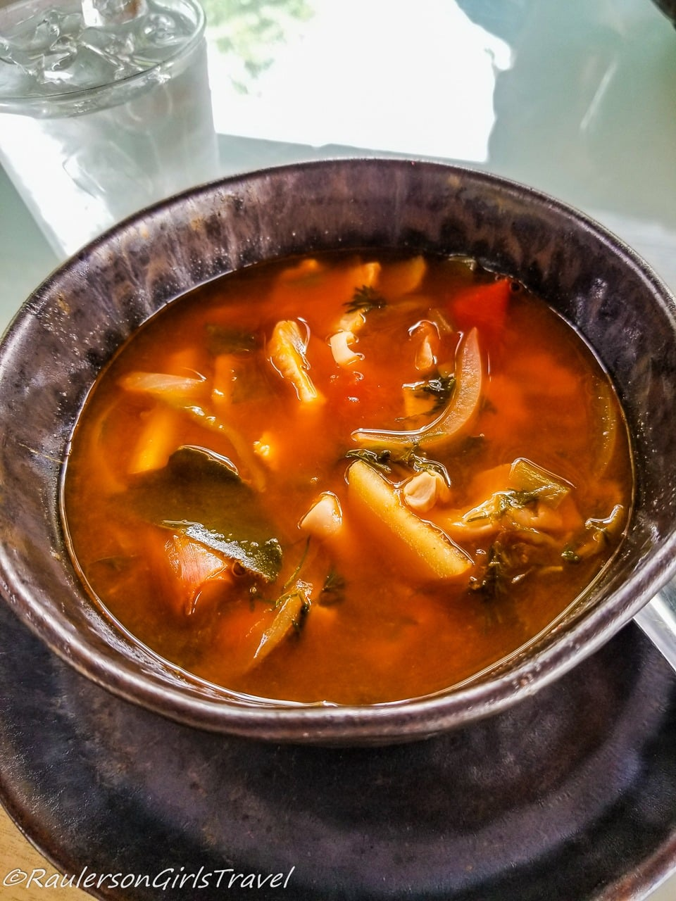 Hot and Sour Soup made in the Thai Cooking Class
