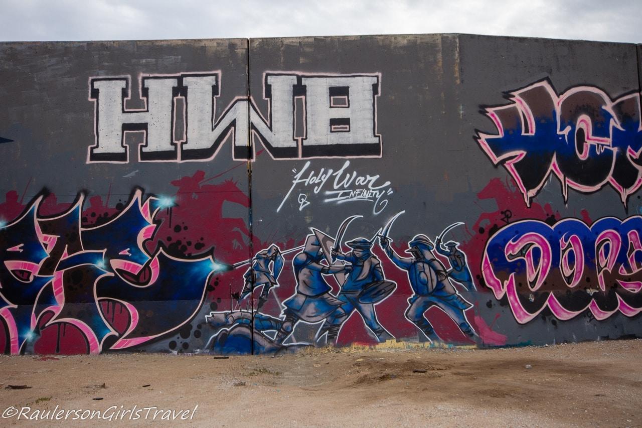 Samurai warriors street art on the Mural Mile
