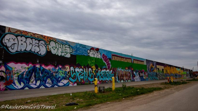 Street art on the St. Louis Graffiti Wall