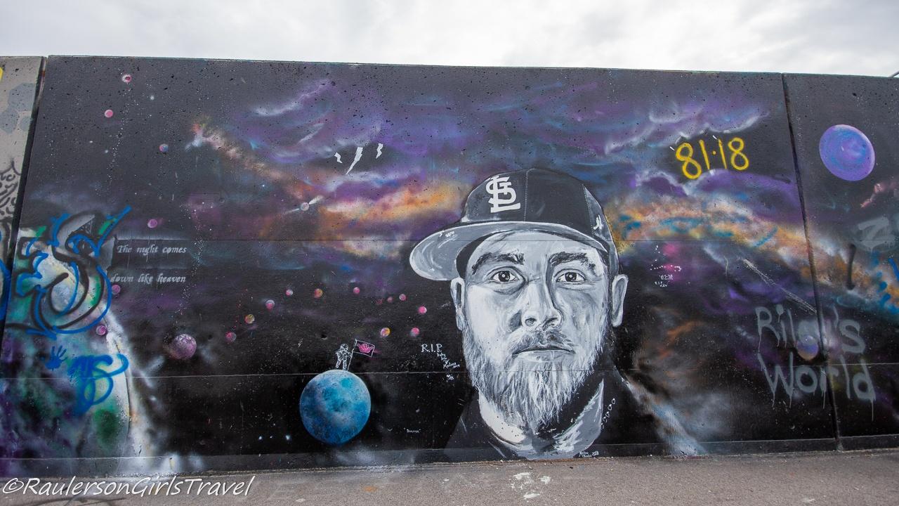St. Louis Cardinals Baseball Player Street Art