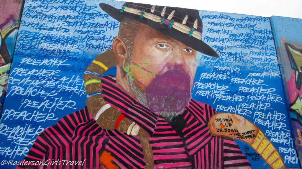 Preacher Street Art on The Mural Mile