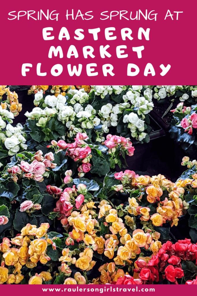 Eastern Market Flower Day Pinterest Pin