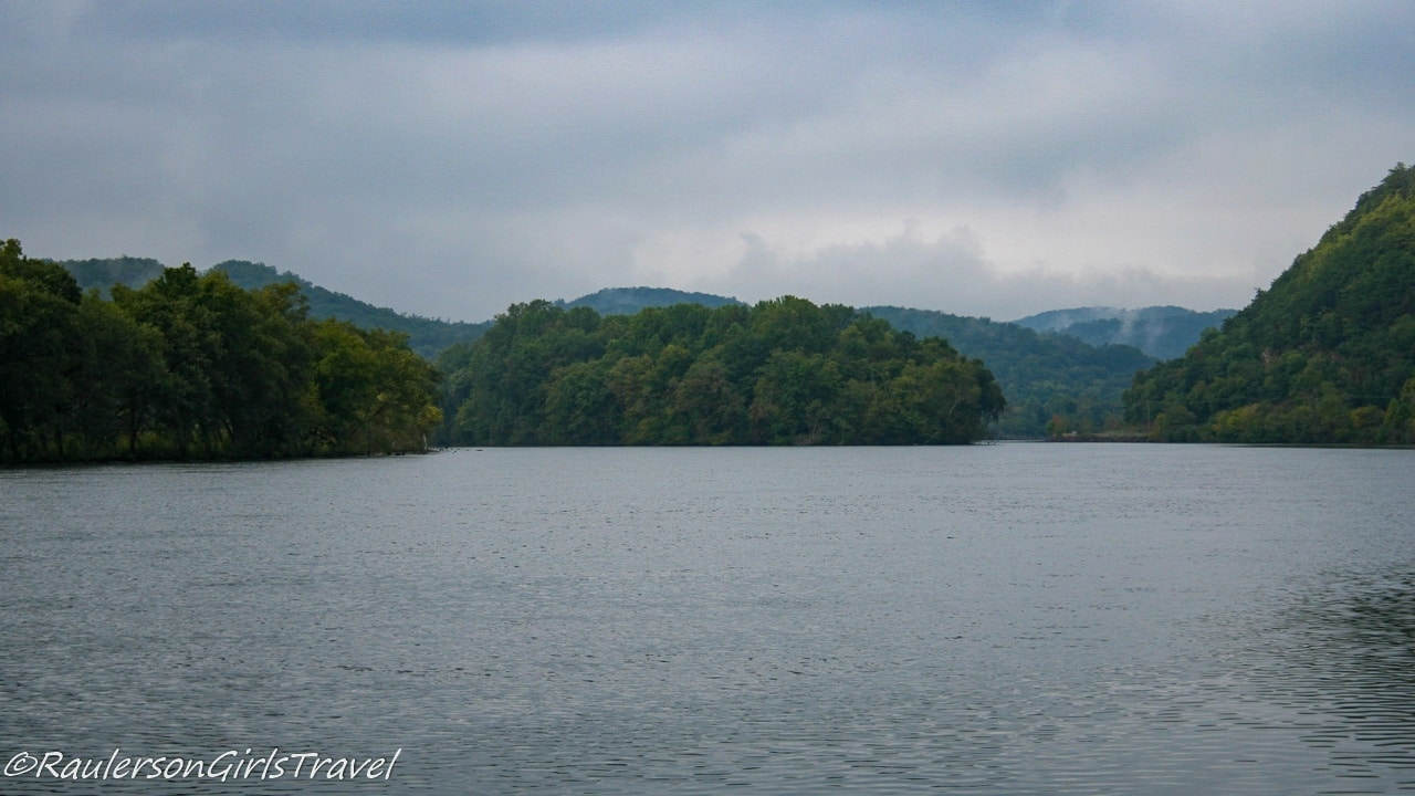 View of Lake Santeetlah by the Tail of the Dragon