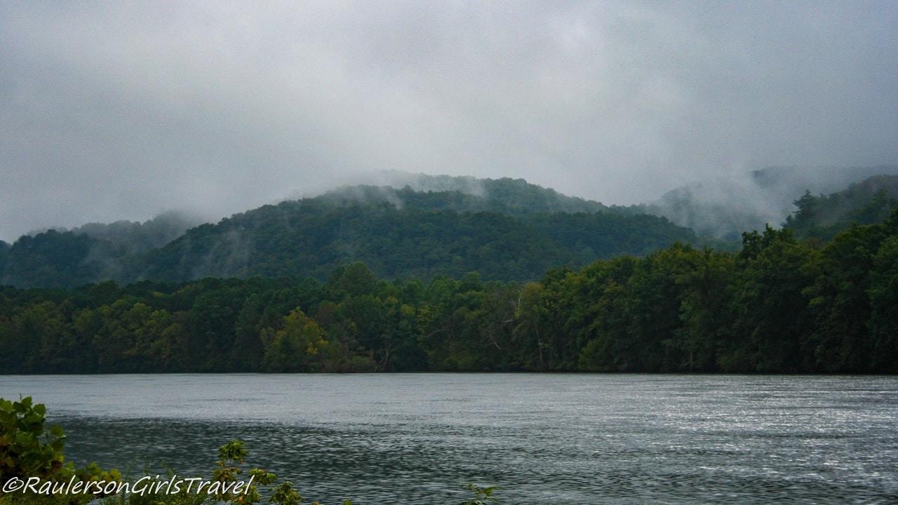 Lake Santeetlah at the start of the Tail of the Dragon