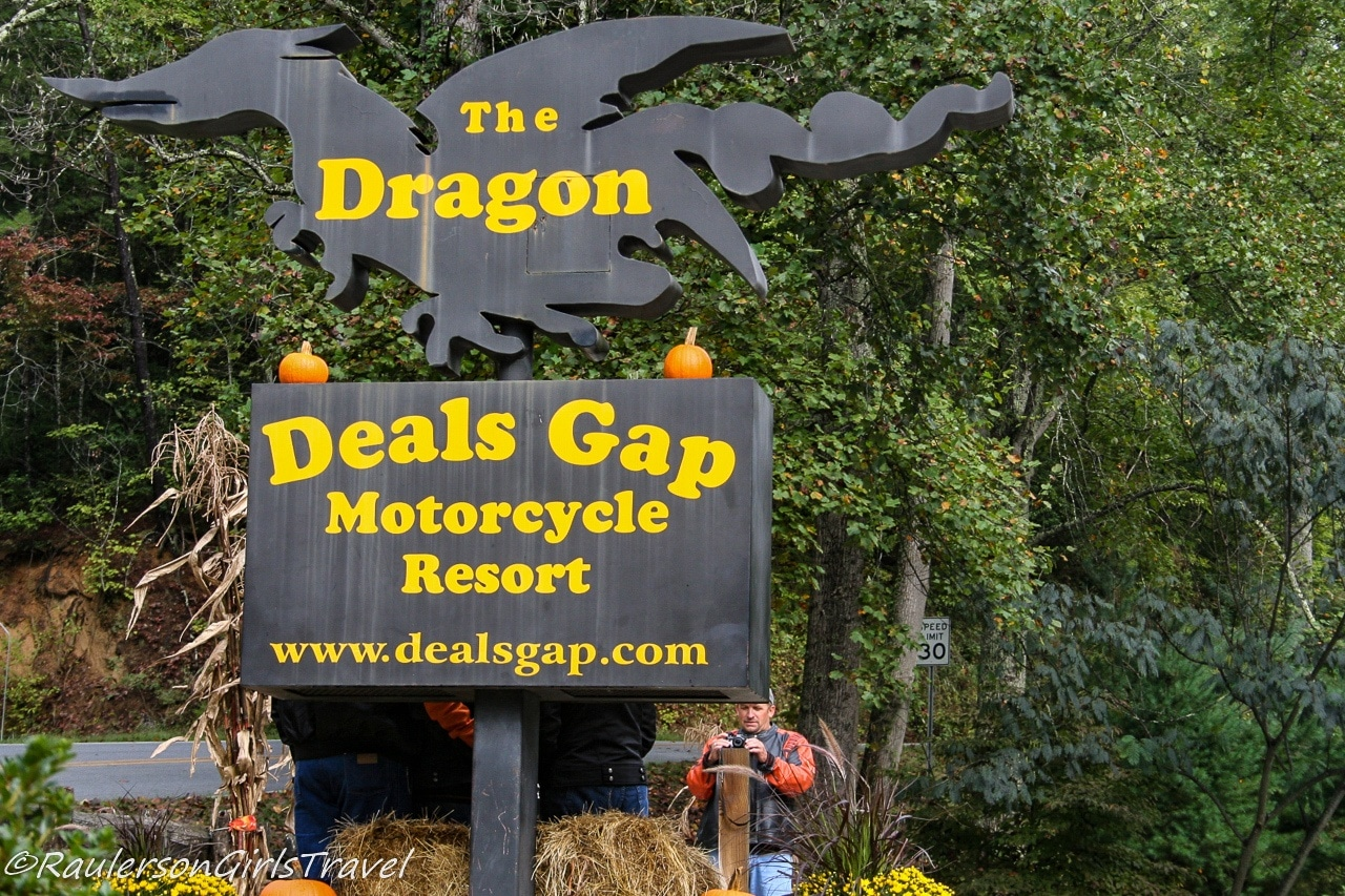 Deals Gap Motorcycle Resort sign