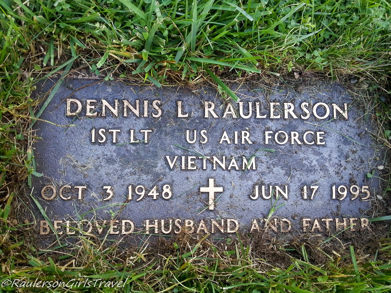 Dad's Grave Stone at St. Peter Cemetery in Mount Clemens