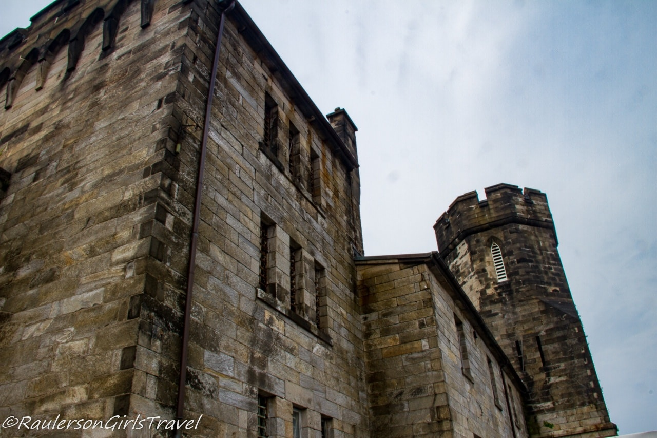 Exterior view of the Eastern State Penitentiary