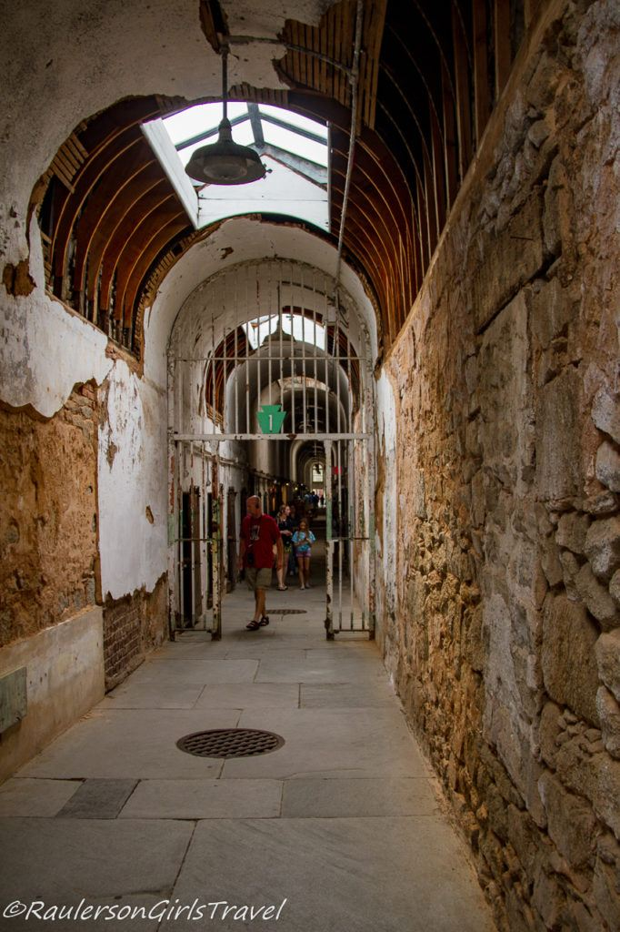 Touring Cell block 1 at Eastern State Penitentiary