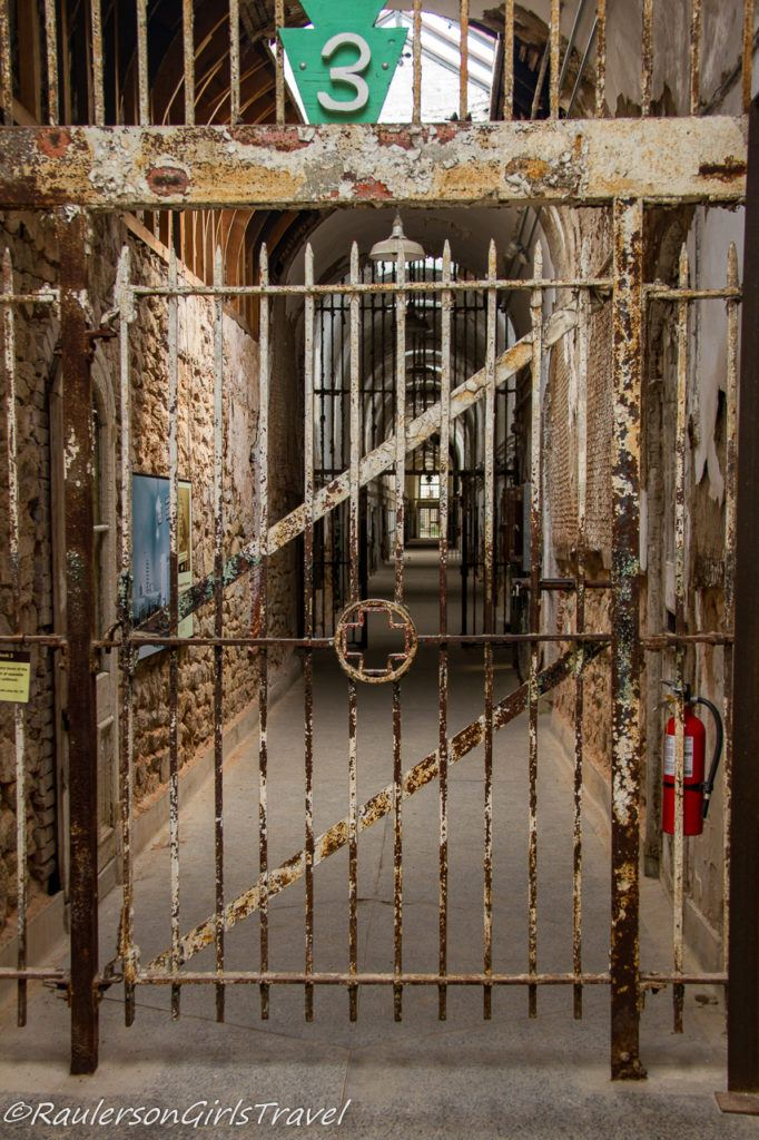 Cell Block 3 at Eastern State Penitentiary