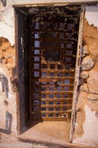 Old metal door for jail cell
