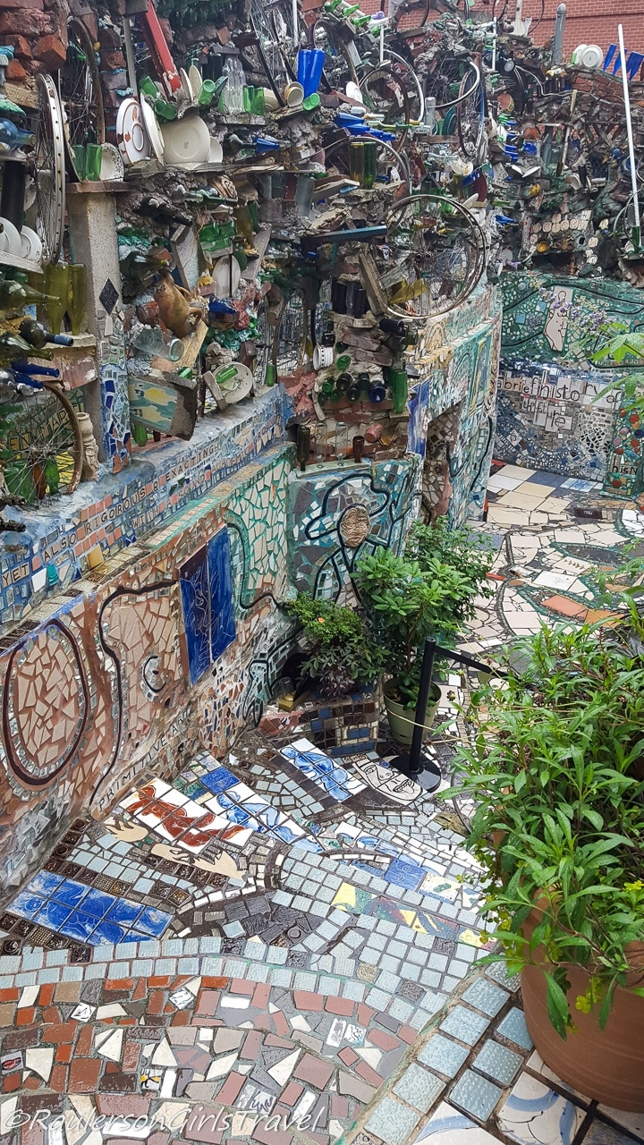 Looking down the steps at Philadelphia's Magic Gardens