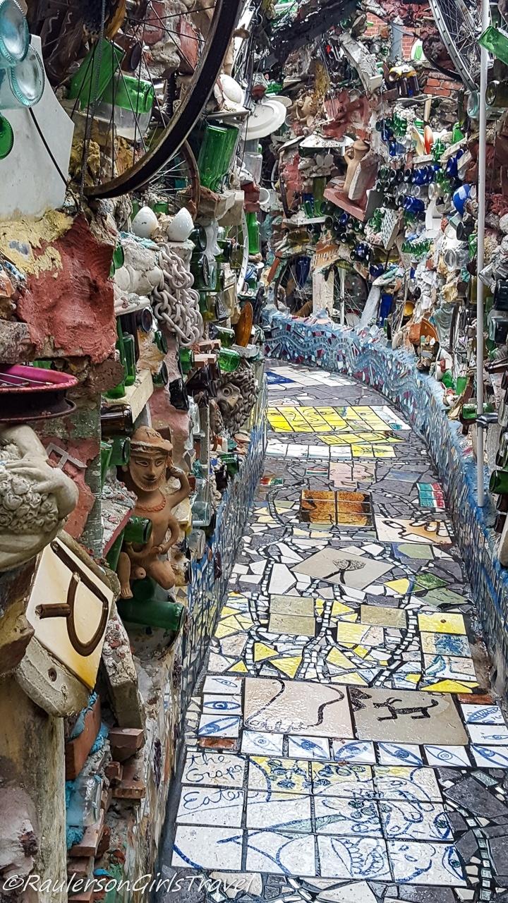 Pathway through Philadelphia's Magic Gardens
