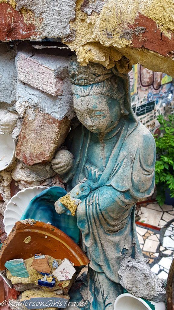 Colorful statue in Magic Gardens