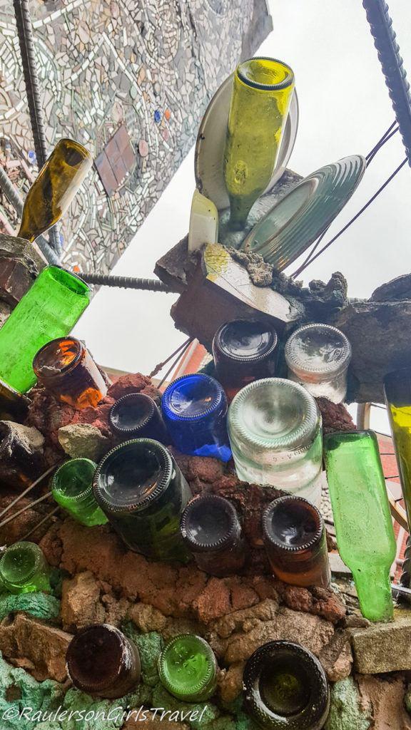 Glass bottles as art