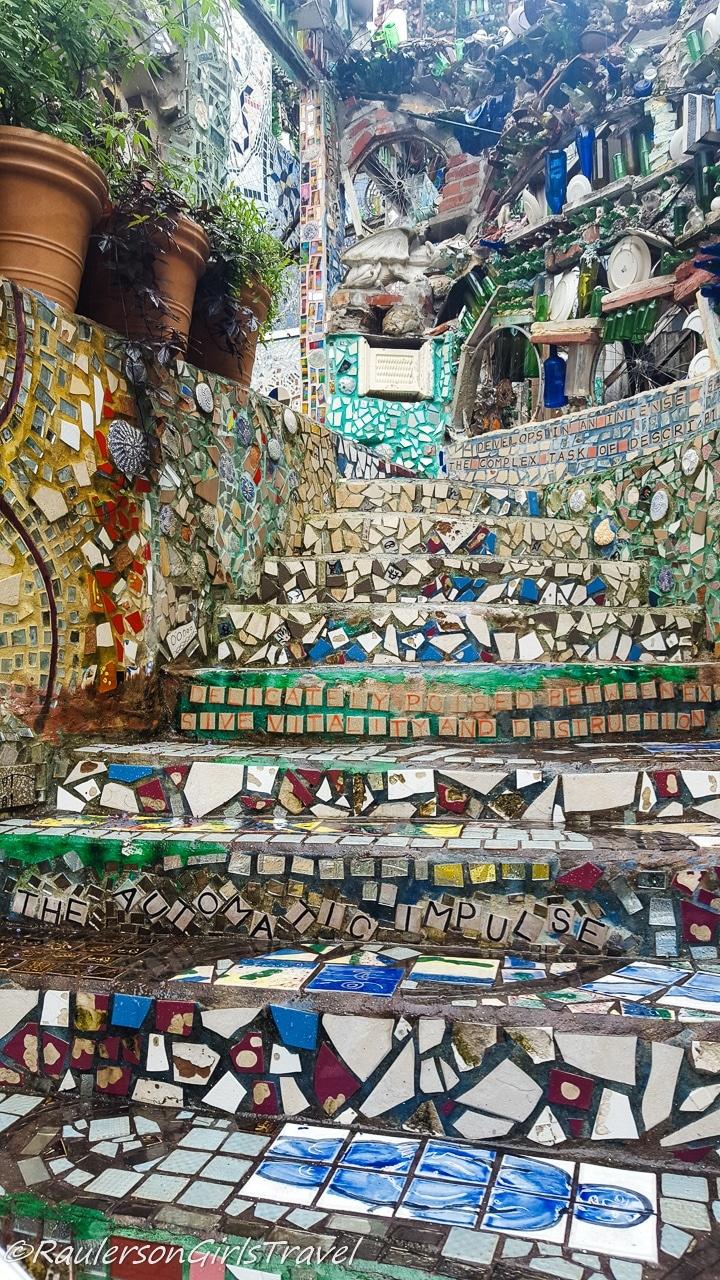 Mosaic Tiled steps in Philadelphia's Magic Gardens