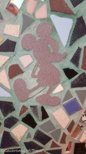 Mickey Mouse shape in mosaics