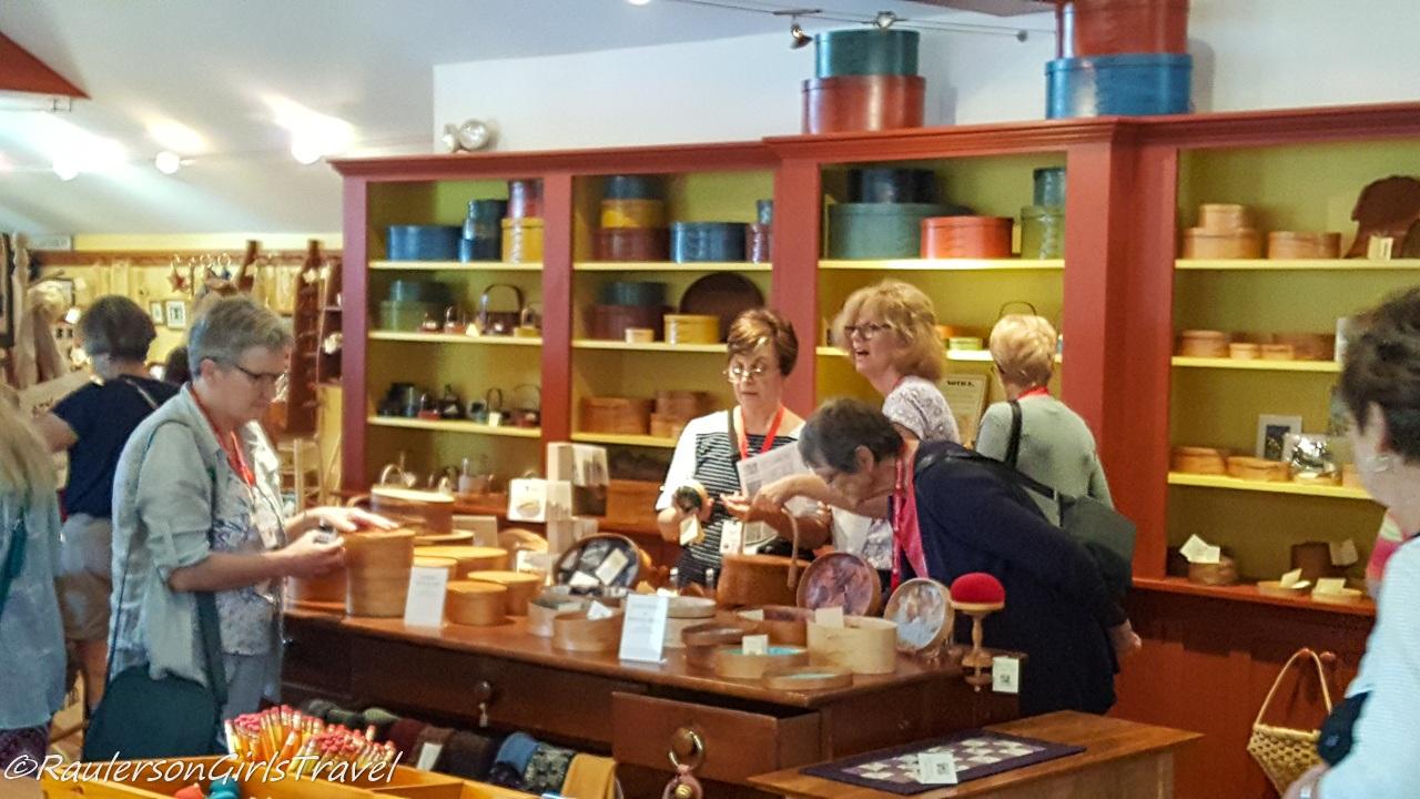 Gift Shop at the Visitor Ed. Center at Canterbury Shaker Village