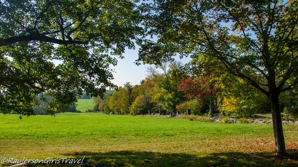 Field in Canterbury Shaker Village