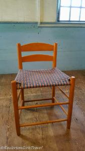 Wooden chair in the Meeting House