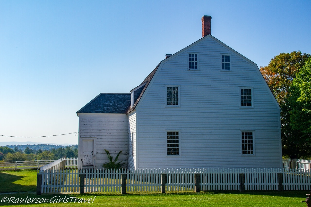 Side view of the Meeting House at Canterbury Shaker Village