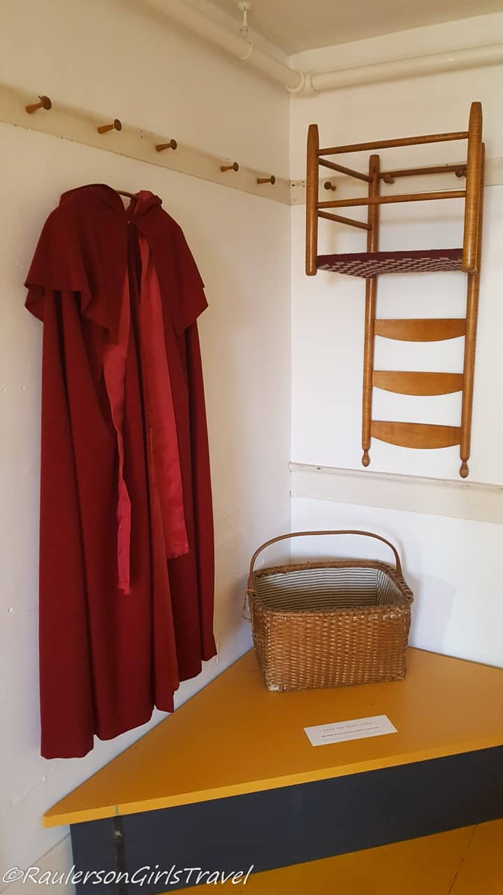 Robe and laundry basket