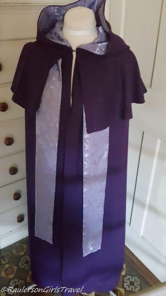Sister's Dark Purple Cloak at Shaker Village