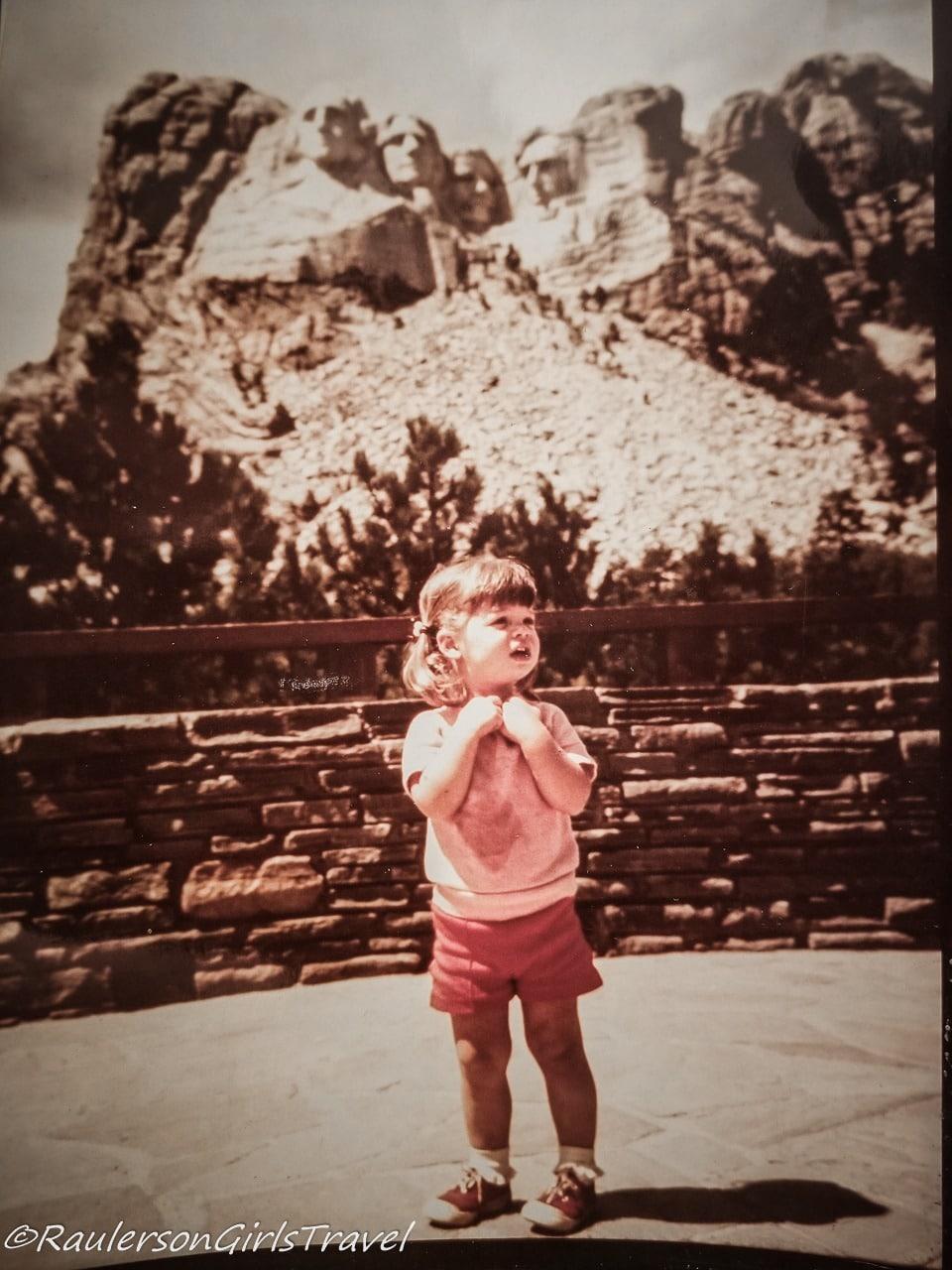 Heather at Mount Rushmore