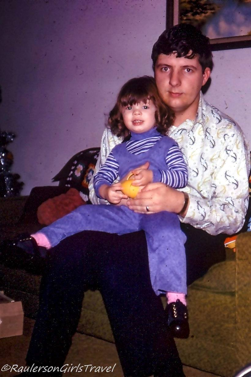 Heather sitting on Dad's lap