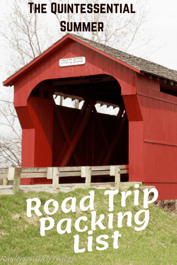 Road Trip Packing List Pinterest Pin