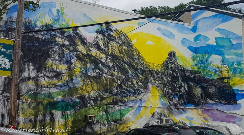 Colorful painting on Fairmount Avenue in Philadelphia