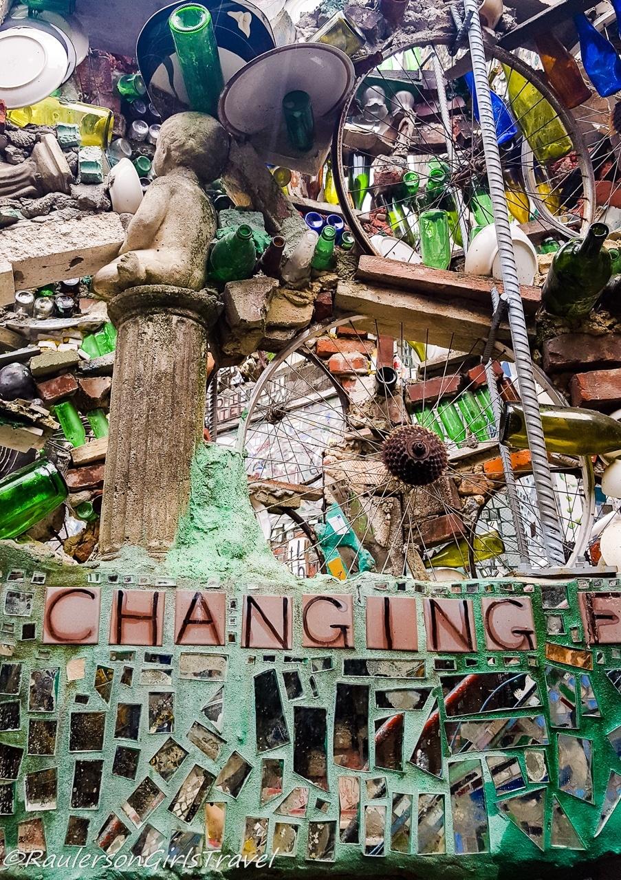 Changing Art Display at the Magic Gardens in Philadelphia