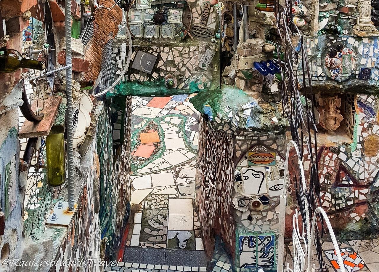 Door way decorated in the Magic Gardens