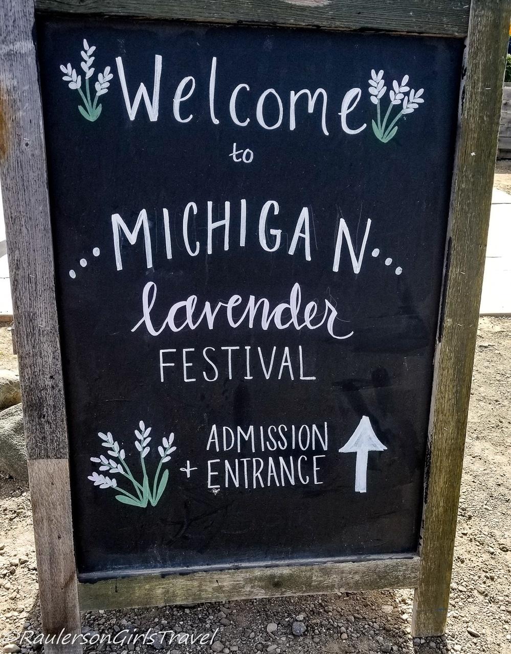 Michigan Lavender Festival sign