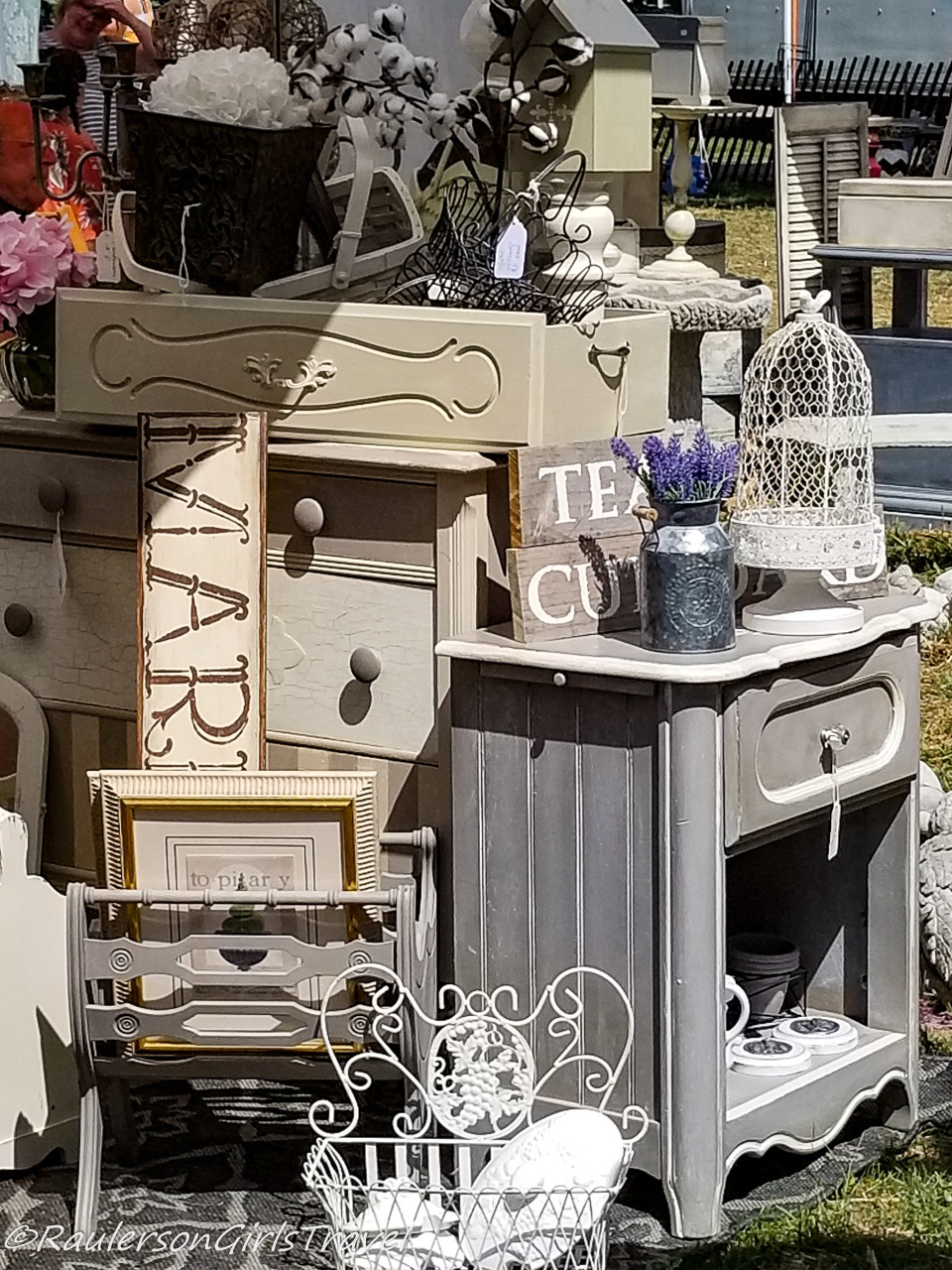 Vintage and Chic Furniture and Gifts at the Michigan Lavender Festival