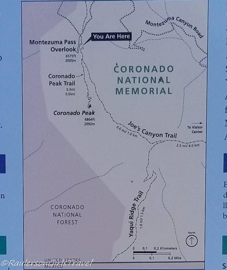 Coronado National Memorial Trail Map