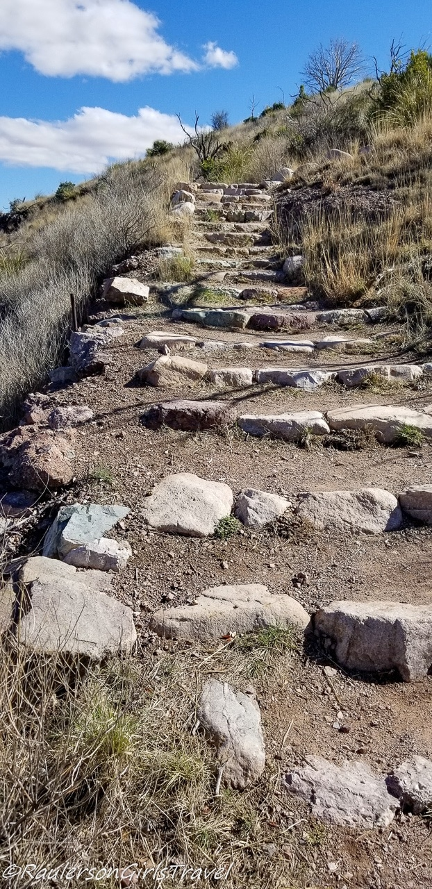 Stairway leading to the Coronado Peak