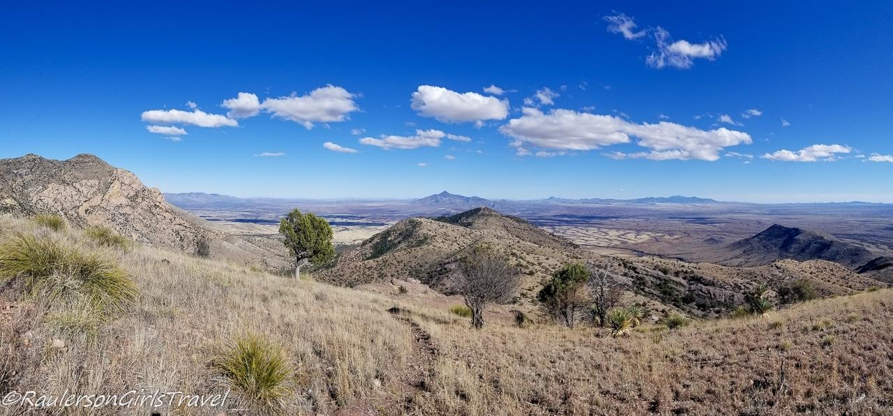 Panoramic view at the top of Coronado Peak
