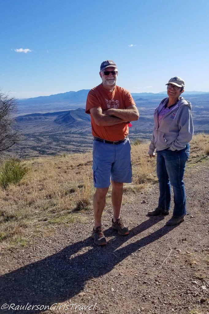 Janet and Ian MacDonald at the top of Coronado Peak