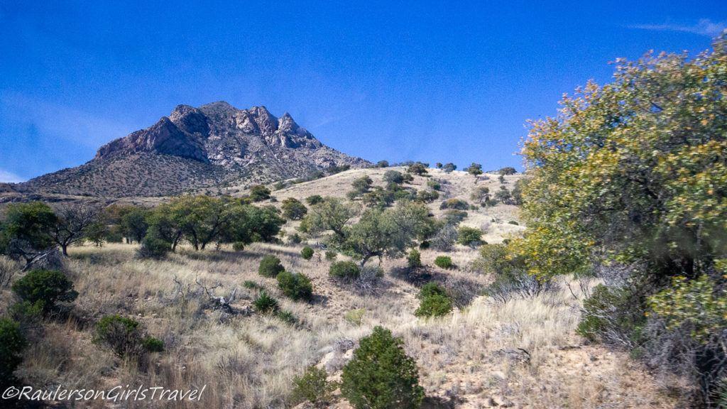 View of Huachuca Mountains from East Montezuma Canyon Road